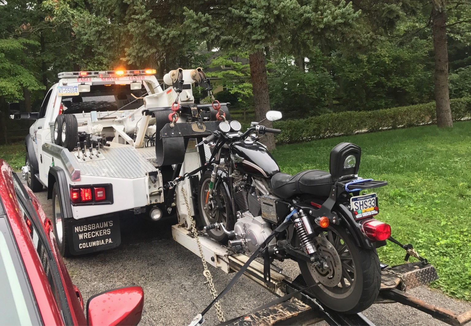 motorcycle towing tips